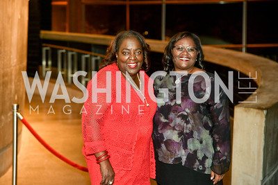 Sandra E. Taylor and Judith N. Batty, Arena Stage Wine Auction, October 3, 2017, Photo by Ben Droz