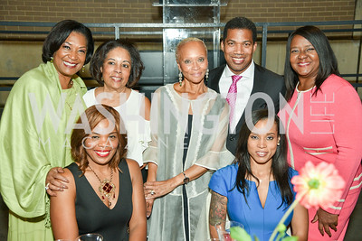 Lavern Chatman and R. Luica Riddle with guests, Arena Stage Wine Auction, October 3, 2017, Photo by Ben Droz