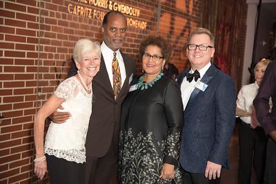 Jane Lang, Orlando Brooks, Sherry Bellamy, Doug Yeuell, Atlas Performing Arts Center, Destination Atlas Party for a Purpose Gala, October 6, 2017. Photo by Ben Droz.