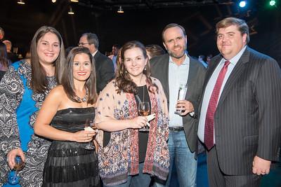 Skye Perryman, Brianne Bharkhda, Adrianna Dunbar, Kelly Dunbar, Cole Bucy, Atlas Performing Arts Center, Destination Atlas Party for a Purpose Gala, October 6, 2017. Photo by Ben Droz.