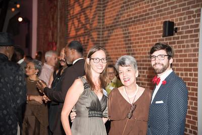 Leila Fitzpatrick, Carla Hubner, Brian Shaw, Atlas Performing Arts Center, Destination Atlas Party for a Purpose Gala, October 6, 2017. Photo by Ben Droz.
