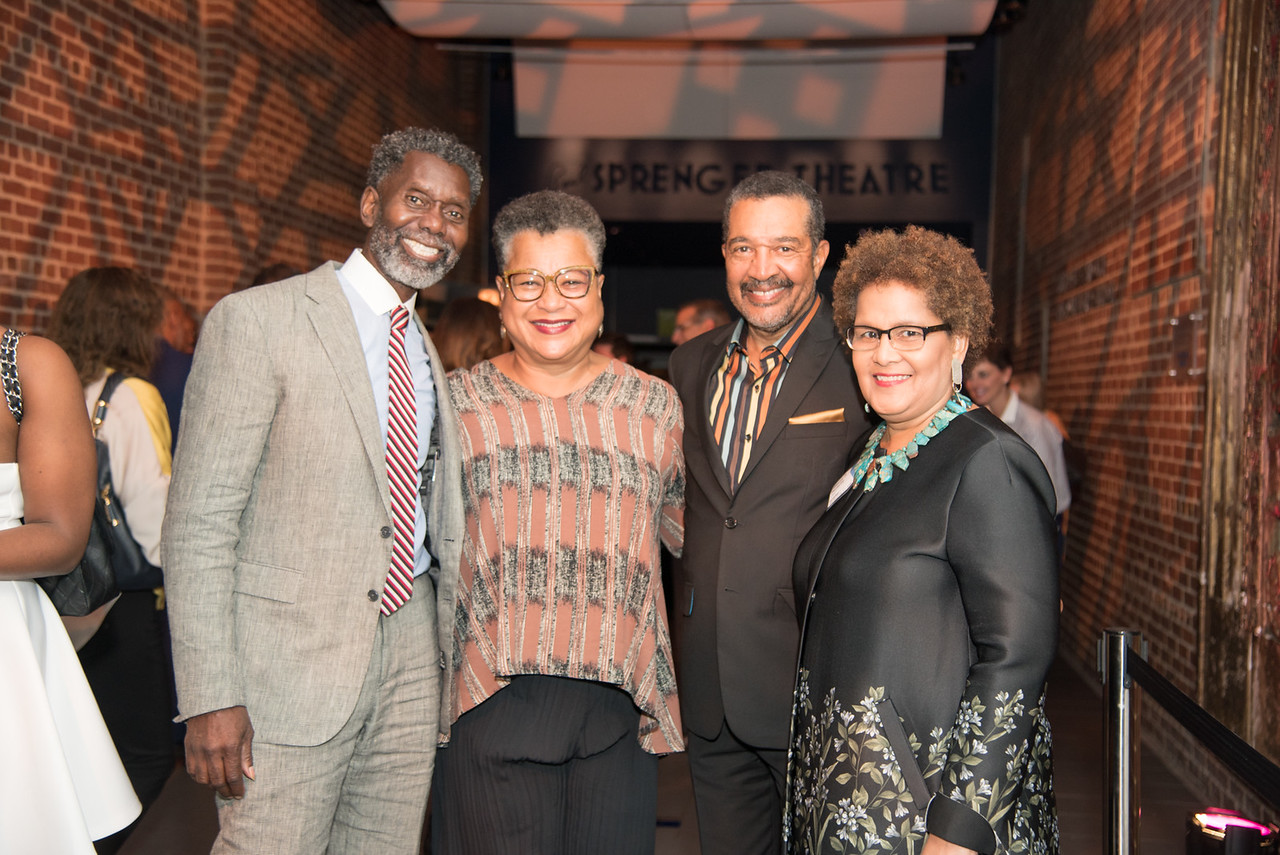 Anwar Saleem, Marie Johns, Wendell Johns, Sherry Bellamy,  Atlas Performing Arts Center, Destination Atlas Party for a Purpose Gala, October 6, 2017. Photo by Ben Droz.