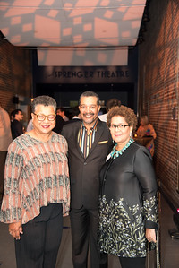 Marie Johns, Wendell Johns, Sherry Bellamy,  Atlas Performing Arts Center, Destination Atlas Party for a Purpose Gala, October 6, 2017. Photo by Ben Droz.