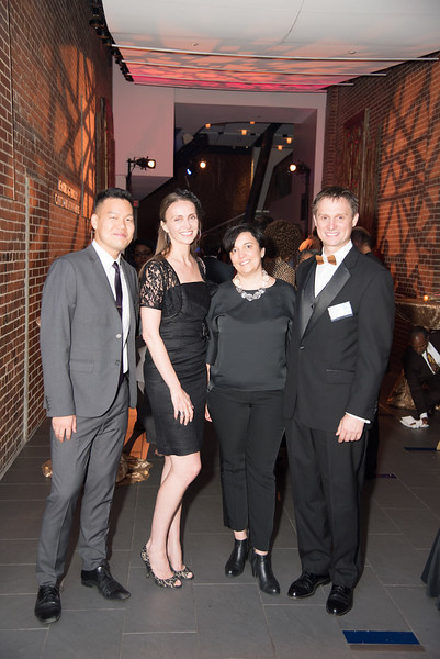 Edward Kim, Zuzana Skovajsoua, Zuzana Buinova, Merek Skovajsa, Atlas Performing Arts Center, Destination Atlas Party for a Purpose Gala, October 6, 2017. Photo by Ben Droz.