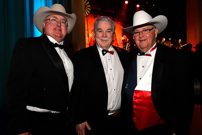 WASHINGTON, DC - JANUARY 19:  (L-R) Pat Six, Chairman of the Board of UMED Holdings, Jim Martin, CEO Martin Land Sales in Fort Worth, TX and Rick Walden of UMED Holdings attend the Texas State Society of Washington, D.C. Black Tie and Boots Presidential Inaugural Ball at the Gaylord National Resort & Convention Center on January 19, 2017 in Washington, DC.  (Photo by Larry French/Washington Life Magazine)