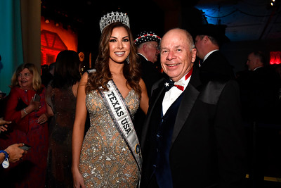 WASHINGTON, DC - JANUARY 19:  Miss Texas USA Nancy Gonzalez and Blair Lee attend the Texas State Society of Washington, D.C. Black Tie and Boots Presidential Inaugural Ball at the Gaylord National Resort & Convention Center on January 19, 2017 in Washington, DC.  (Photo by Larry French/Washington Life Magazine)