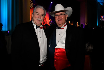 WASHINGTON, DC - JANUARY 19:  Pat Six, Chairman of the Board of UMED Holdings (L) and Jim Martin, CEO Martin Land Sales in Fort Worth, TX attend the Texas State Society of Washington, D.C. Black Tie and Boots Presidential Inaugural Ball at the Gaylord National Resort & Convention Center on January 19, 2017 in Washington, DC.  (Photo by Larry French/Washington Life Magazine)