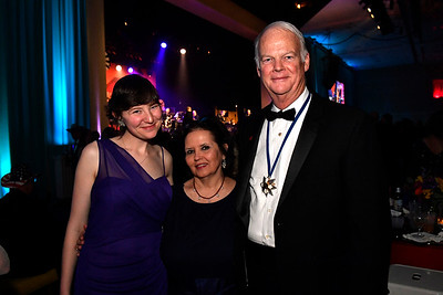 WASHINGTON, DC - JANUARY 19:  (L-R) Kathleen Hines, Teresa Miller and former representative from South Carolina, co-chair of the Reagan campaign and now lobbyist Richard Hines attend the Texas State Society of Washington, D.C. Black Tie and Boots Presidential Inaugural Ball at the Gaylord National Resort & Convention Center on January 19, 2017 in Washington, DC.  (Photo by Larry French/Washington Life Magazine)