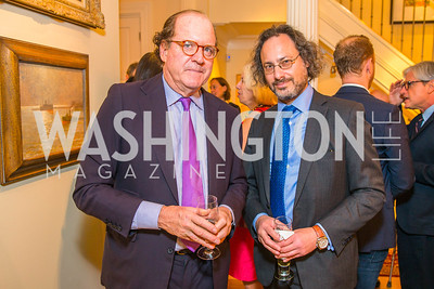 John Henry, Jerome Copulsky.  Photo by Alfredo Flores. Book Party for Sidney Blumenthal 2017. Home of John and Christina Ritch. May 18, 2017