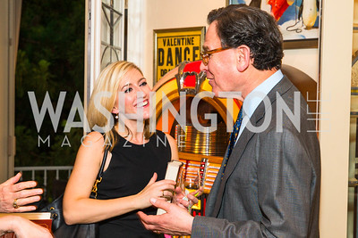 Livia Drumheller , Sidney Blumenthal, Photo by Alfredo Flores. Book Party for Sidney Blumenthal 2017. Home of John and Christina Ritch. May 18, 2017