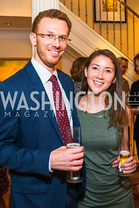 Paul Blumenthal, Alison Kim, Photo by Alfredo Flores. Book Party for Sidney Blumenthal 2017. Home of John and Christina Ritch. May 18, 2017