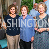 Christina Ritch, Leslie Salaman, Caroline Dexter. Photo by Alfredo Flores. Book Party for Sidney Blumenthal 2017. Home of John and Christina Ritch. May 18, 2017