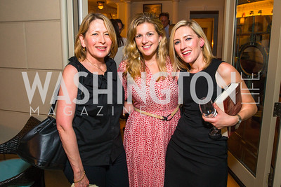 Linda Drumheller, Nina Ritch, Livia Drumheller. Photo by Alfredo Flores. Book Party for Sidney Blumenthal 2017. Home of John and Christina Ritch. May 18, 2017