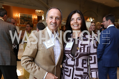 Italy Amb. Armando Varricchio and Micaela Varricchio. Photo by Tony Powell. Brunch in honor of Thomas LeBlanc. Arsht Residence. September 10, 2017