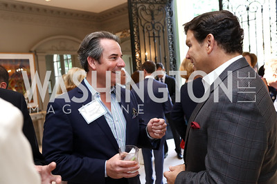 Stuart Holliday, Bret Baier. Photo by Tony Powell. Brunch in honor of Thomas LeBlanc. Arsht Residence. September 10, 2017
