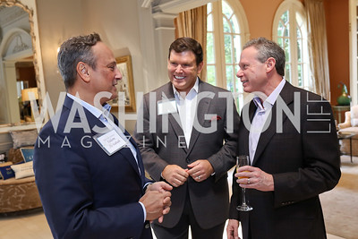Kuwait Amb. Salem Al-Sabah, Bret Baier, Wayne Reynolds. Photo by Tony Powell. Brunch in honor of Thomas LeBlanc. Arsht Residence. September 10, 2017