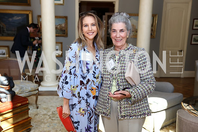Michelle Kosinski, Barby Allbritton. Photo by Tony Powell. Brunch in honor of Thomas LeBlanc. Arsht Residence. September 10, 2017