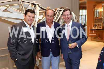 Bret Baier, Chris Isham, Robert Allbritton. Photo by Tony Powell. Brunch in honor of Thomas LeBlanc. Arsht Residence. September 10, 2017