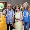 Meryl and Michael Chertoff, Adrienne Arsht, Rima Al-Sabah. Photo by Tony Powell. Brunch in honor of Thomas LeBlanc. Arsht Residence. September 10, 2017
