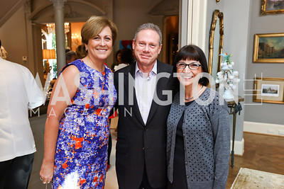 Deborah Rutter, Wayne Reynolds, Marie Mattson. Photo by Tony Powell. Brunch in honor of Thomas LeBlanc. Arsht Residence. September 10, 2017