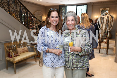 Lee Satterfield, Barby Allbritton. Photo by Tony Powell. Brunch in honor of Thomas LeBlanc. Arsht Residence. September 10, 2017