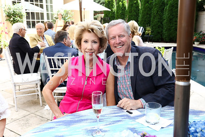 Debbie and Sen. Mark Meadows. Photo by Tony Powell. Brunch in honor of Thomas LeBlanc. Arsht Residence. September 10, 2017