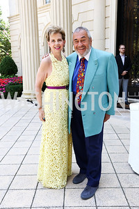 Adrienne Arsht, Tony Podesta. Photo by Tony Powell. Brunch in honor of Thomas LeBlanc. Arsht Residence. September 10, 2017