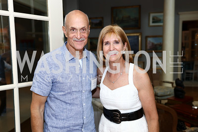 Michael Chertoff, Paula Dobriansky. Photo by Tony Powell. Brunch in honor of Thomas LeBlanc. Arsht Residence. September 10, 2017