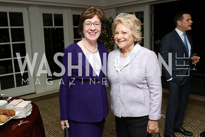 Sen. Susan Collins, Mary Mochary. Photo by Tony Powell. Buffy Cafritz Inauguration Party. Hay Adams. October 25, 2017