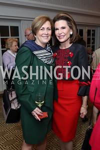 Deborah Rutter, Nancy Brinker. Photo by Tony Powell. Buffy Cafritz Inauguration Party. Hay Adams. October 25, 2017