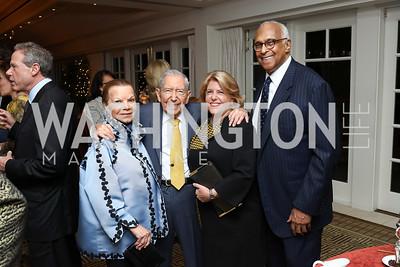 Ruthie Leffall, Leonard Silverstein, Susan Scott, LaSalle Leffall. Photo by Tony Powell. Buffy Cafritz Inauguration Party. Hay Adams. October 25, 2017