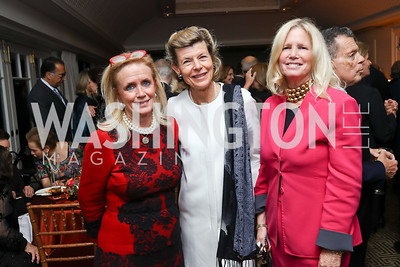 Debbie Dingell, Diana Negroponte, Susan Blumenthal. Photo by Tony Powell. Buffy Cafritz Inauguration Party. Hay Adams. October 25, 2017