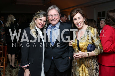 Tina Alster, Paul Frazer, Catherine Reynolds. Photo by Tony Powell. Buffy Cafritz Inauguration Party. Hay Adams. October 25, 2017