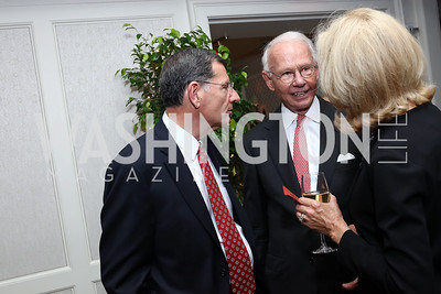 Sen. John Barrasso, Roger Sant. Photo by Tony Powell. Buffy Cafritz Inauguration Party. Hay Adams. October 25, 2017
