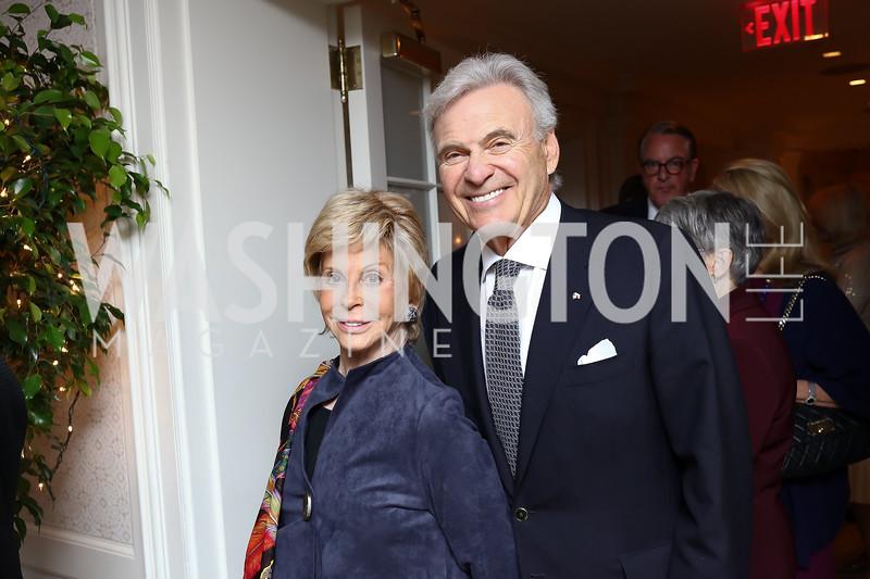 Wilma and Stuart Bernstein. Photo by Tony Powell. Buffy Cafritz Inauguration Party. Hay Adams. October 25, 2017