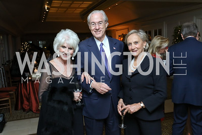 Diane Rehm, George Vradenburg, Jill Udall. Photo by Tony Powell. Buffy Cafritz Inauguration Party. Hay Adams. October 25, 2017