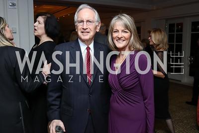 Phil Verveer, Rita Braver. Photo by Tony Powell. Buffy Cafritz Inauguration Party. Hay Adams. October 25, 2017