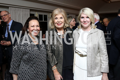 Alma Powell, Patricia Harrison, Jan Smith. Photo by Tony Powell. Buffy Cafritz Inauguration Party. Hay Adams. October 25, 2017