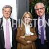 "John Coale and Greta Van Susteren, Howard Fineman. Photo by Tony Powell. ""Sisters First"" Book Party. Jefferson Hotel. October 26, 2017"