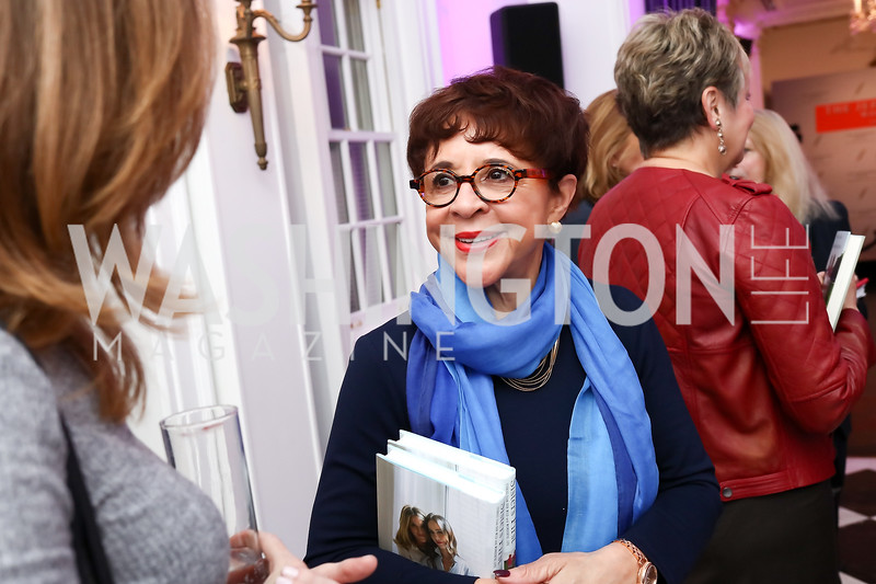 """Sheila Johnson. Photo by Tony Powell. """"Sisters First"""" Book Party. Jefferson Hotel. October 26, 2017"""