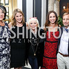 "Tammy Haddad, Jenna Bush Hager, Connie Milstein, Barbara Bush, Mark Dybul. Photo by Tony Powell. ""Sisters First"" Book Party. Jefferson Hotel. October 26, 2017"