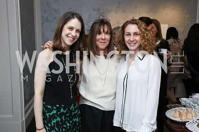"Maia Wapnick, Amy Ephron, Jill Santopolo. Photo by Tony Powell. Amy Ephron ""Castle in the Mist"" Book Party. Sonneborn Residence. March 5, 2017"