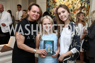 "April, Grace and Lily Delaney. Photo by Tony Powell. Amy Ephron ""Castle in the Mist"" Book Party. Sonneborn Residence. March 5, 2017"