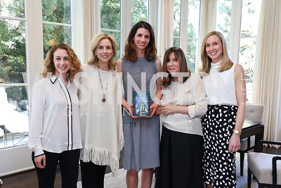"Jill Santopolo, Katherine Bradley, Katherine Boone, Amy Ephron, Karen Sonneborn. Photo by Tony Powell. Amy Ephron ""Castle in the Mist"" Book Party. Sonneborn Residence. March 5, 2017"