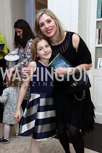 "Emersyn McNamara and Lesley McNamara. Photo by Tony Powell. Amy Ephron ""Castle in the Mist"" Book Party. Sonneborn Residence. March 5, 2017"