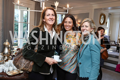 "Jenny Irwin, Gina Coburn, Christie Weiss. Photo by Tony Powell. Amy Ephron ""Castle in the Mist"" Book Party. Sonneborn Residence. March 5, 2017"