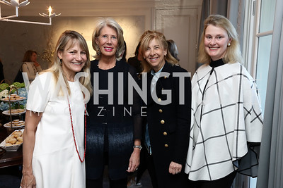 "Amy Tercek, Winton Holladay, Nancy Taylor Bubes, Genevieve Ryan. Photo by Tony Powell. Amy Ephron ""Castle in the Mist"" Book Party. Sonneborn Residence. March 5, 2017"
