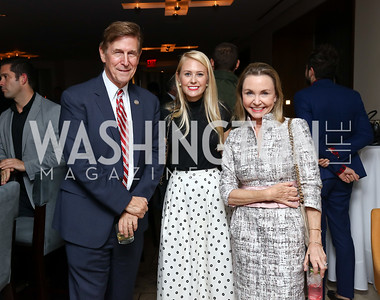 Rep. Don Beyer, Lauren Culbertson, Megan Beyer. Photo by Tony Powell. Charlie Palmer Reopening. October 11, 2017