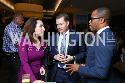 Sandra Pandit, Nick Schmit and Jonathan Capehart. Photo by Tony Powell. Charlie Palmer Reopening. October 11, 2017