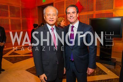 Ambassador Stuart Holliday, Chinese Ambassador to the United States Cui Tiankai. Photo by Alfredo Flores. Chinese Lunar New Year Celebration. Embassy of the People's Republic of China. February 2, 2017